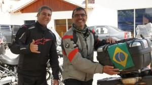 Zwei Biker aus Brasilien